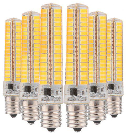 YWXLight 6PCS Dimmble LED Silicone Lamp Light 136 LEDs 5730 SMD Corn Bulb - WARM WHITE G9 (AC 110V)