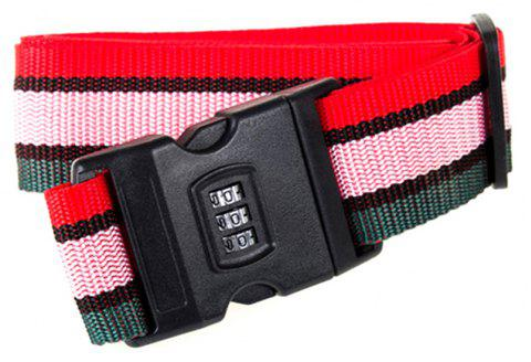 Travel Password Lock Reinforcement Luggage Strap - multicolor E