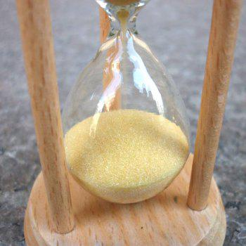 Desktop Gift Round Three Minutes Elm Timer Hourglass Decoration - GOLDENROD