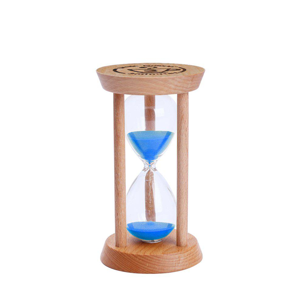 Desktop Gift Round Three Minutes Elm Timer Hourglass Decoration - DODGER BLUE