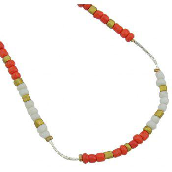 Colorful Beads Anklets Summer Barefoot Jewelry for Women - PAPAYA ORANGE