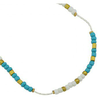 Colorful Beads Anklets Summer Barefoot Jewelry for Women - MACAW BLUE GREEN