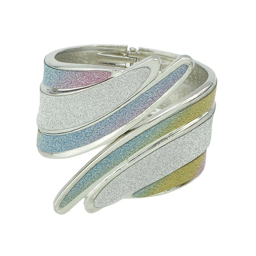 Hippie Punk Rock Big Bangles for Women - SILVER