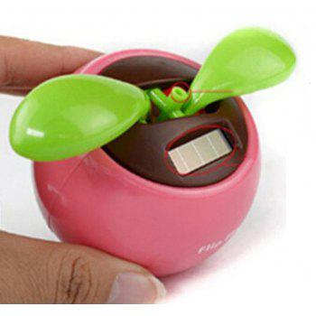Flip Flap Solar Powered Flower Flowerpot Swing Dancing Toy - ROSE RED