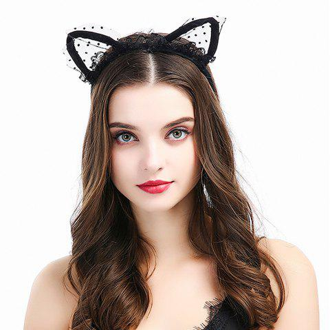 New Black Cat Earband Headband Fabric Hair Accessories - NATURAL BLACK