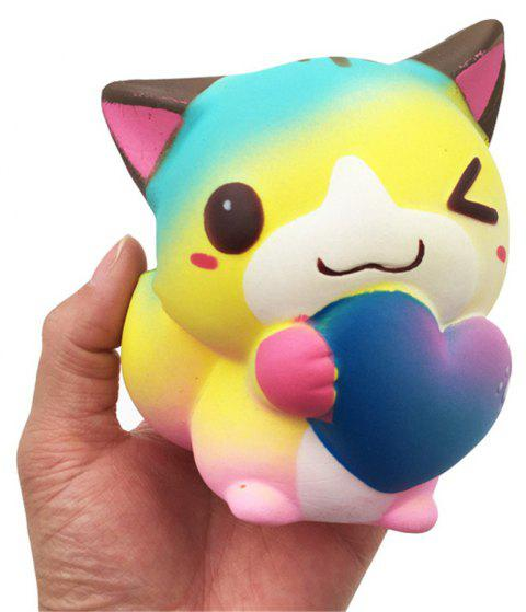 Squishy Squishy Slow Rising Kawaii doux elfes parfumés chats d'amour - multicolor