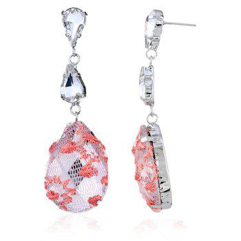 Fashionable Joker Lace Temperament Lovely Drop Earrings - CADILLAC PINK