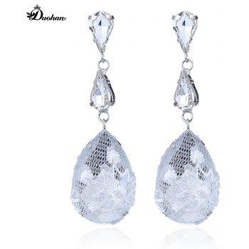 Fashionable Joker Lace Temperament Lovely Drop Earrings - WHITE