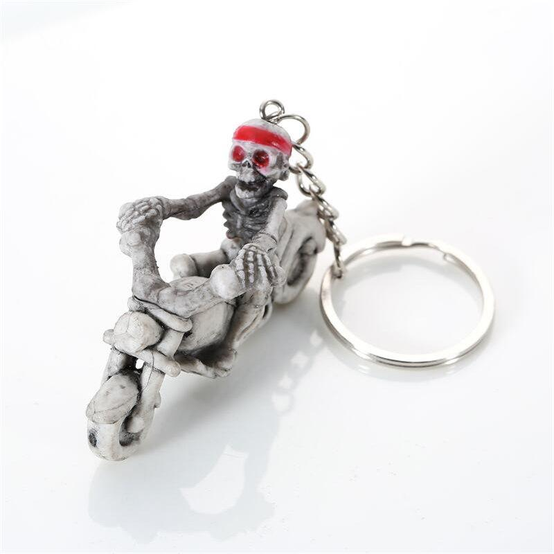 Halloween High Quality Rubber Ride Motorcycle Keychain - DARK GRAY