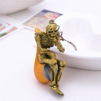 Halloween High Quality Rubber Pipe Keychain - ORANGE GOLD