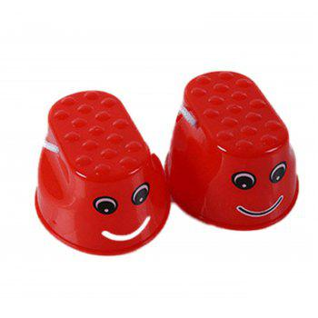 Jumping Stilts Outdoor Fun Sports Toy 2pcs - RED