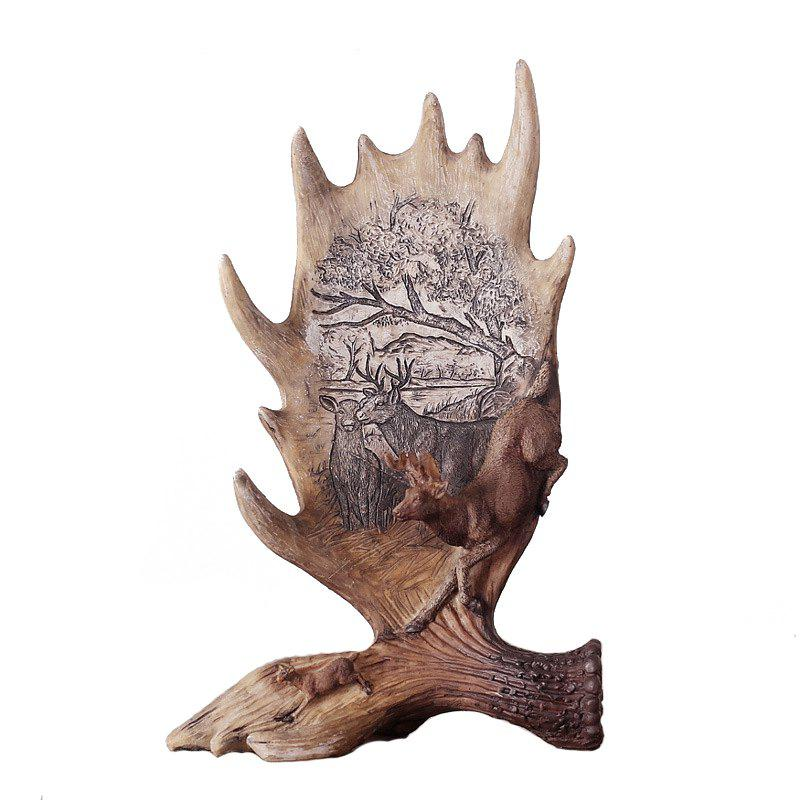 Creative Resin Craft Gift Antler Ornament - multicolor A