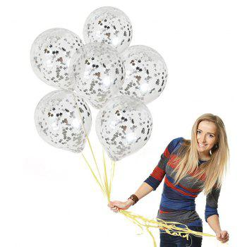 12 inch Sequin Balloon Romantic Wedding Party Decoration - SILVER