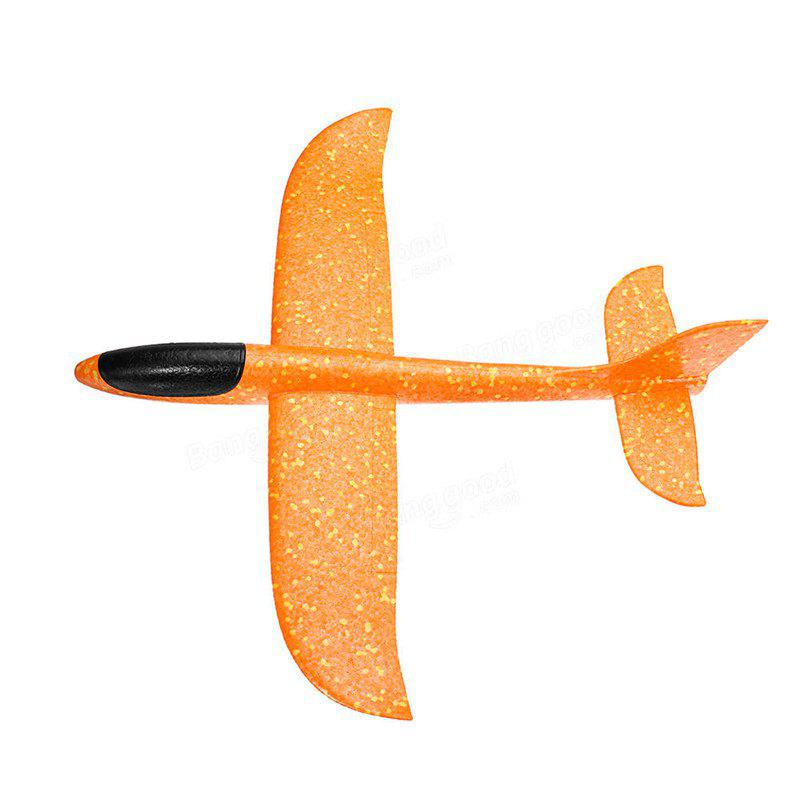 Hand-throwing Foam Glider Color Revolving Children Model Aircraft Toy - BEER
