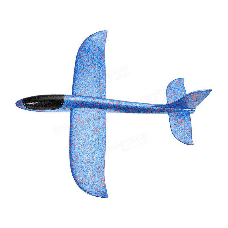 Hand-throwing Foam Glider Color Revolving Children Model Aircraft Toy - DODGER BLUE