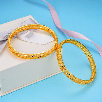 4PCS 18K Gold Plated Bangle Bracelet Jewelry - YELLOW 4PCS
