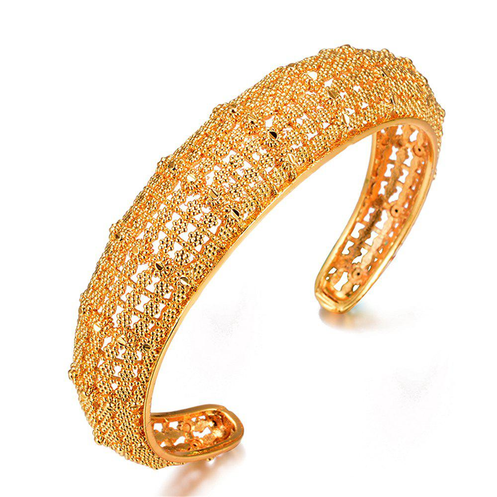 Gold-Plated Bangle for Women Bracelet Jewelry - YELLOW