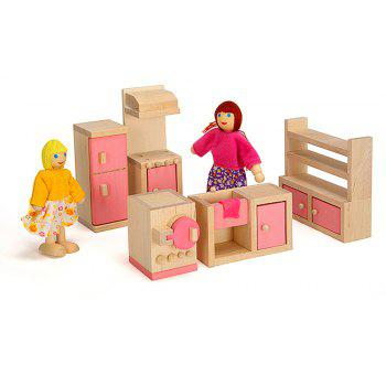 Home Children Teaching Aid Puzzle Playing Pink Furniture Toy - PINK