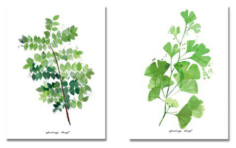 DYC11116 - bc-10-283-284 2PCS Small Fresh Plant Print Art - multicolor