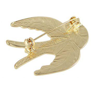 Colorful Enamel Lovely Bird Swallow Brooches - multicolor