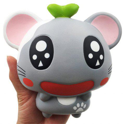 Mice Jumbo Squishy Slow Rebound Cute Cartoon Animals Hamster PU Material - GRAY