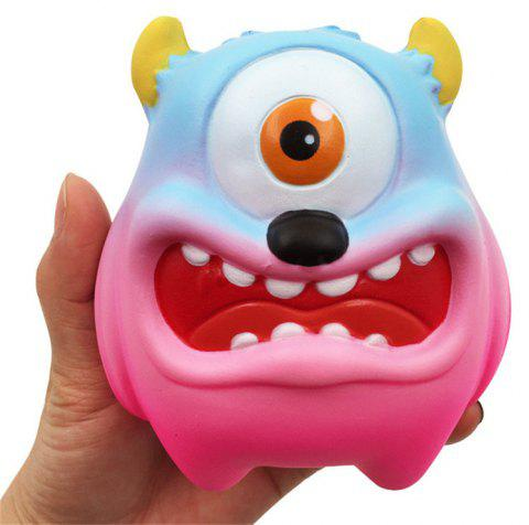 Jumbo Squishy Simulation One-eyed Monster Squeezed Decompression Toy - VIOLET RED