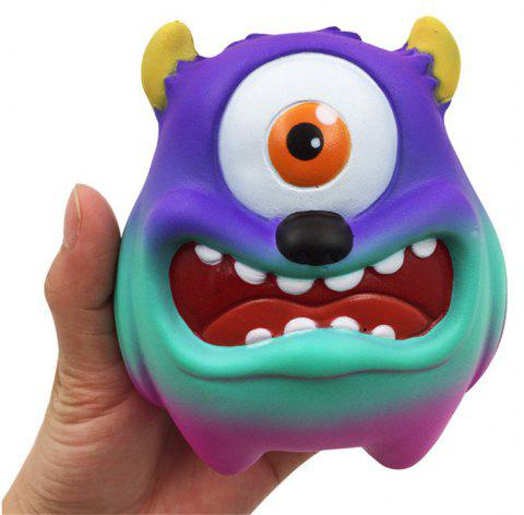 Jumbo Squishy Simulation One-eyed monstre pressé décompression jouet - Bleu Saphir