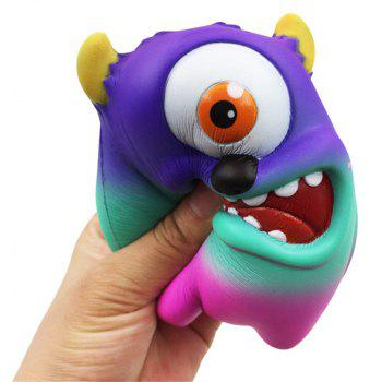 Jumbo Squishy Simulation One-eyed Monster Squeezed Decompression Toy - SAPPHIRE BLUE
