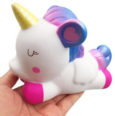 Jumbo Squishy Simulation Cute Unicorn Squeezed Decompression Toy - LAVENDER BLUE