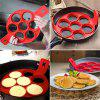 Créative Silicone Omelette Moule Pancake Frite Oeuf Anneau Moule Cuisine Cuisson Outil - Rouge