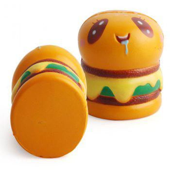 Hamburger Shape Slow Rebound Decompression Slow Rising Stress Reliever Toy 2pcs - BEE YELLOW