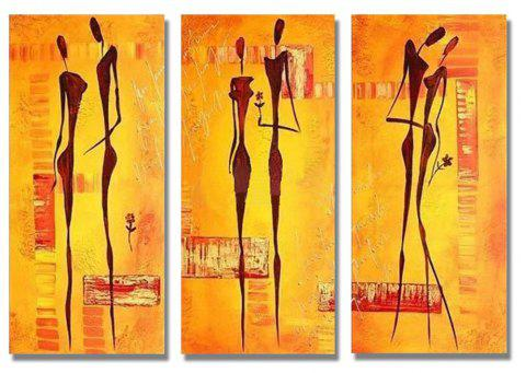 Styledecor Modern Hand Painted Abstract The Couples 3 Pieces Group On Canvas