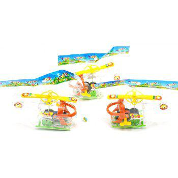 Transparent Mini Windup Winding Helicopter Children Toy - multicolor