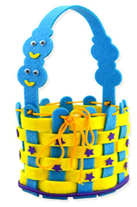 Children Kindergarten Hand-Woven  Flower Basket DIY Material Package - DEEP SKY BLUE