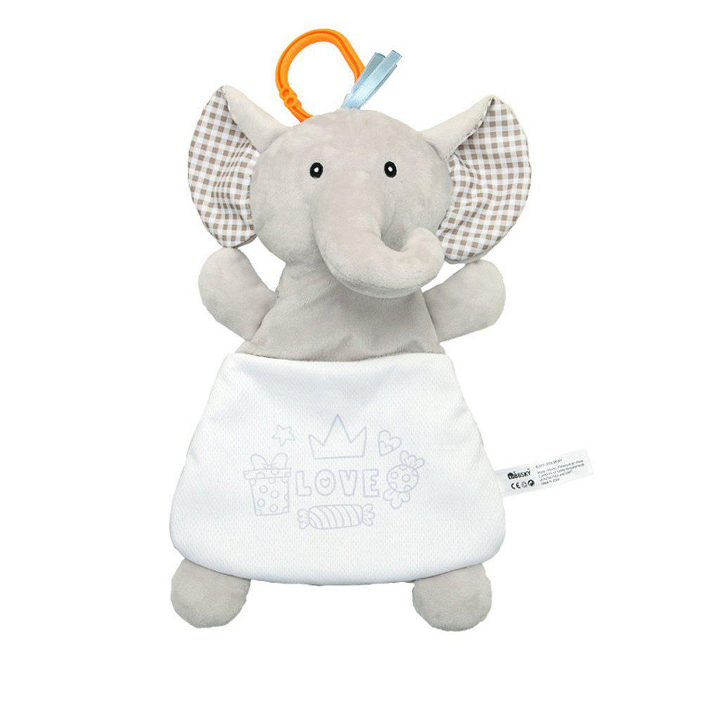 Baby's Soothing Towel Elephant Lamb Doll Soft Plush Toy - LIGHT GRAY