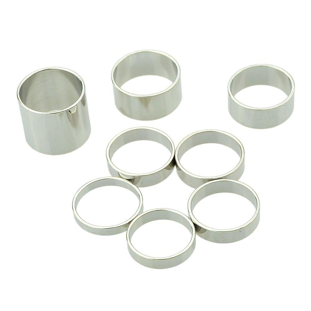 8pcs Gold-color Silver Color Knuckle Ring - SILVER RING SET