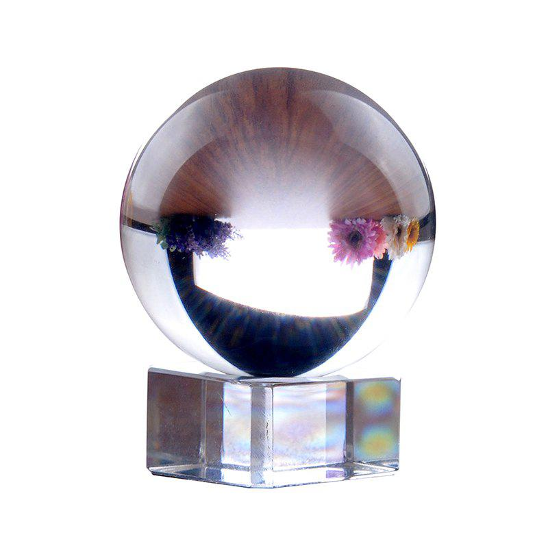 8CM Crystal Ball Furnishing Articles Photography Lens Sphere Glass Ball - TRANSPARENT
