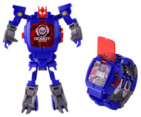 Kids Transformers Rescue Bots Toys 2 in 1 Digital Robot Watch - BLUE JAY