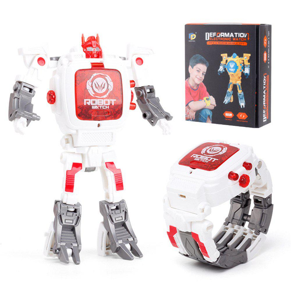 Kids Transformers Rescue Bots Toys 2 in 1 Digital Robot Watch - WHITE