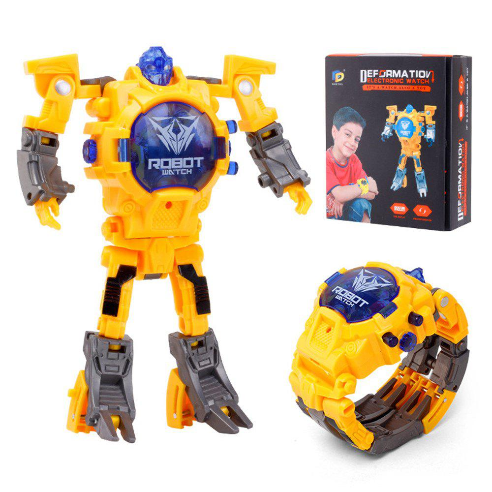 Kids Transformers Rescue Bots Toys 2 in 1 Digital Robot Watch - YELLOW