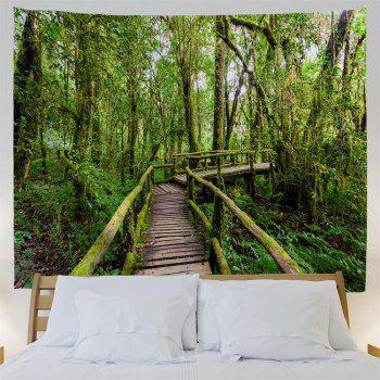 Thailand Rainforest 3D Printing Home Wall Hanging Tapestry for Decoration - multicolor W200CMXL180CM