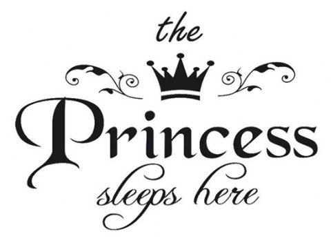Girl Princess Room Fashion Carved Wall Stickers and Environmental Protection - BLACK