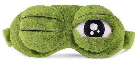 Green Frog Cartoon Cute Eyes   Sad 3D Eye Mask Cover Sleeping Rest - LIME GREEN