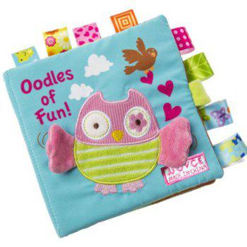 Animal Embroidery Soft Cloth Fabric Infant Baby Early Education Cloth Books 4pcs - multicolor