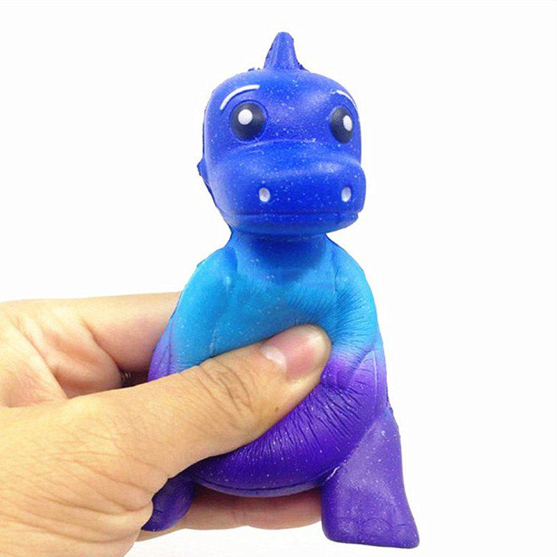 Star Dinosaurs Slowly Bounced Back with Foam Relief Toys Jumbo Squishy - ROYAL BLUE