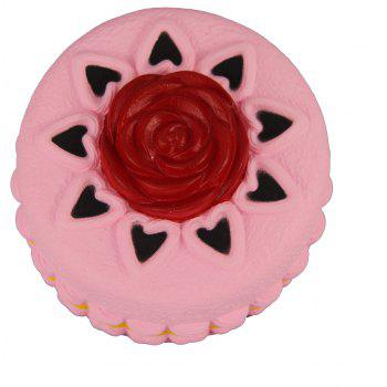 Jumbo Squishy Red Flower Cake Toys - multicolor A