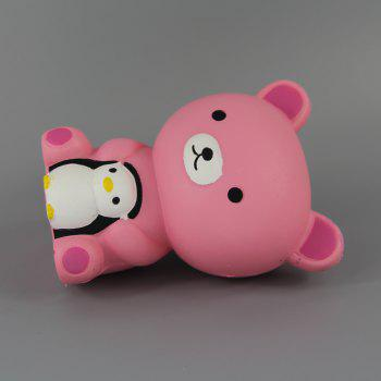 Jumbo Squishy Pink Bear and Penguin Toys - multicolor A