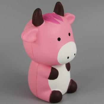 Jumbo Squishy Pink Cow Toys - multicolor A