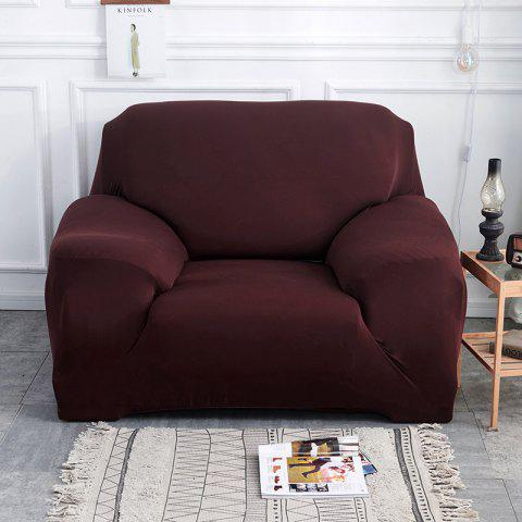 Pure Color Tight Sofa Cover - DEEP COFFEE THREE SEATS SOFA:190CM-230CM