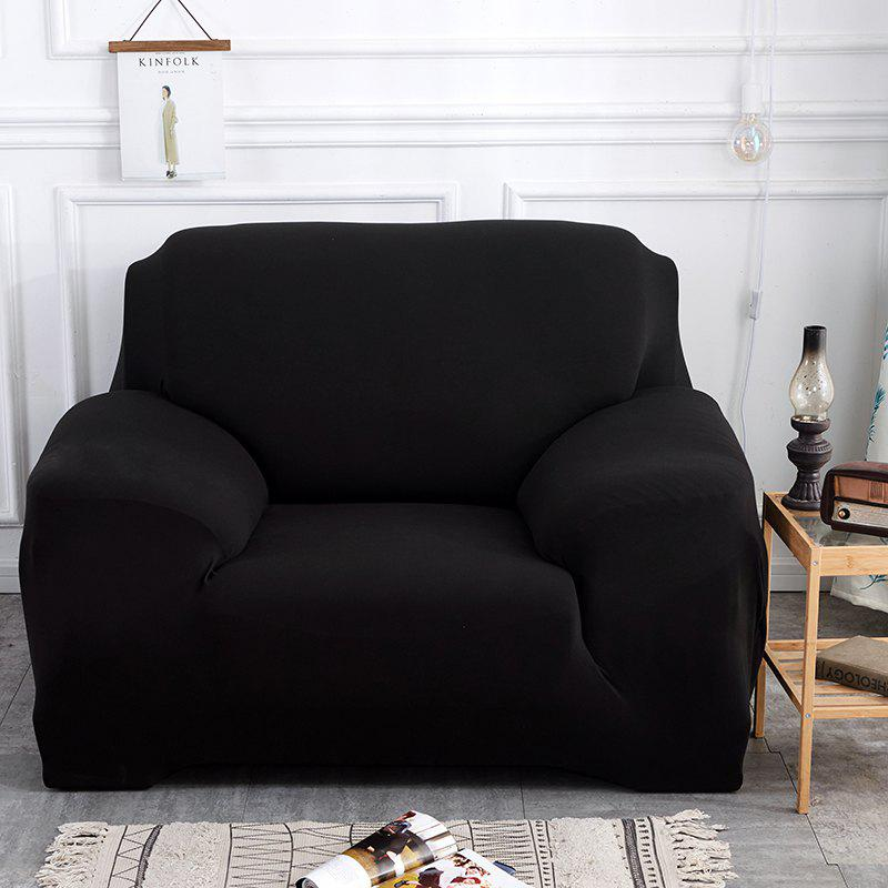 Pure Color Tight Sofa Cover   BLACK DOUBLE SEATS SOFA:145CM 185CM